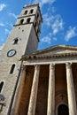 Santa Maria Sopra Minerva in Assisi Italy Royalty Free Stock Photo