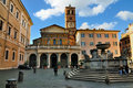 Santa Maria in Trastevere Royalty Free Stock Image