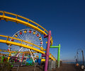 Santa moica pier ferris wheel in california usa Royalty Free Stock Photos