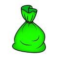 Santa money bag, Christmas empty sack icon, symbol, design. Winter vector illustration  on white background. Royalty Free Stock Photo