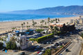 Santa monica beach california panorama los angeles Royalty Free Stock Images