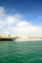Santa monica beach in los angeles usa pacific coast Royalty Free Stock Photo