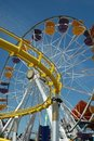 Santa Monica Ferris Wheel Royalty Free Stock Images