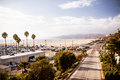 Santa monica highway the pacific coast as seen from in los angeles california usa Stock Photo