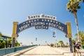 stock image of  Santa Monica iconic entrance arch, California