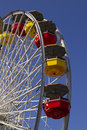 Santa Monica Pier Carnival Amusement Thrill Ride Royalty Free Stock Photo