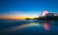 Santa Monica Pier Sunset Royalty Free Stock Photo