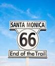 Santa Monica sign Royalty Free Stock Photo