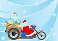 Santa on a motorcycle Royalty Free Stock Photos