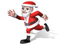 Santa moving with waving his arms widely