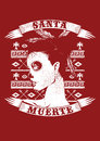 Santa muerte vector illustration ideal for printing on apparel clothes Royalty Free Stock Photography