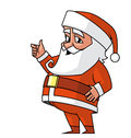 Santa ok doing the hand sign Stock Photo