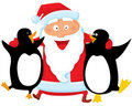 Santa with penguin Royalty Free Stock Image