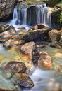 Santa petronilla waterfalls in biasca switzerland cantone ticino Royalty Free Stock Images