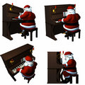 Santa Playing a Piano Royalty Free Stock Photography