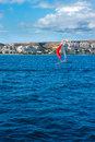 Santa pola alicante view from mediterranean sea of spain Royalty Free Stock Photography