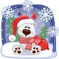 Santa polar bear Imagen de archivo