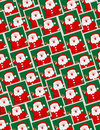 Santa portraits - seamless pattern Royalty Free Stock Photos