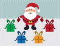 Santa With Presents Royalty Free Stock Photography