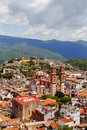 Aerial view of taxco guerrero, mexico Royalty Free Stock Photo
