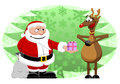 Santa reindeer christmas tis the season to be jolly and for giving gifts show that special just how much their magic flying skills Stock Images
