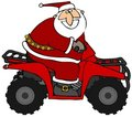 Santa Riding An ATV Royalty Free Stock Images