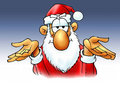 Santa. That's all. Royalty Free Stock Photography