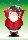 Santa's big surprise. Royalty Free Stock Photo
