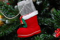 Santa's boot Royalty Free Stock Images