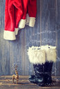 Santa's Boots Royalty Free Stock Photo