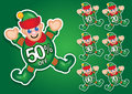 Santa's Elf vector discount stickers Stock Photos