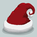 Santa s hat vector illustration red with furry cotton base Stock Photography