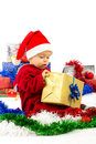 Santa's little helper baby Stock Image