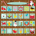 Santa's Retro Advent Calendar Royalty Free Stock Images