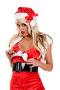 Santa's Sexy Christmas Helper Stock Images