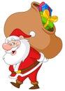 Santa with sack Royalty Free Stock Photo