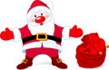 Santa  with sack of gifts Royalty Free Stock Photo