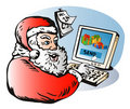 Santa sending presents Stock Images