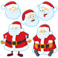 Santa set Royalty Free Stock Photography