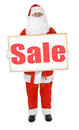 Santa showing bulletin board with sale inscription claus Royalty Free Stock Image
