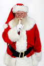 Santa shush Stock Photo