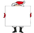 Santa sign father christmas holding up a Royalty Free Stock Image