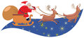 Santa sleigh Royalty Free Stock Images