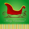 Santa sleigh Christmas card