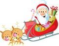 Santa Sleigh and Reindeer Royalty Free Stock Photo