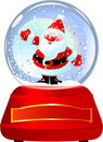 Santa in Snow Globe Royalty Free Stock Photography