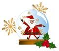 Santa Snow Globes Royalty Free Stock Photo