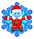 Santa snowflake Royalty Free Stock Photo