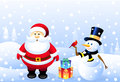 Santa snowman christmas bird is a illustration Stock Photo