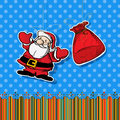 Santa sticker Royalty Free Stock Photography